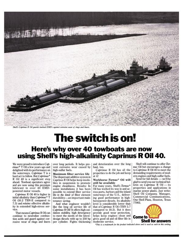 Maritime Reporter Magazine, page 23,  Nov 15, 1977 oil filter life