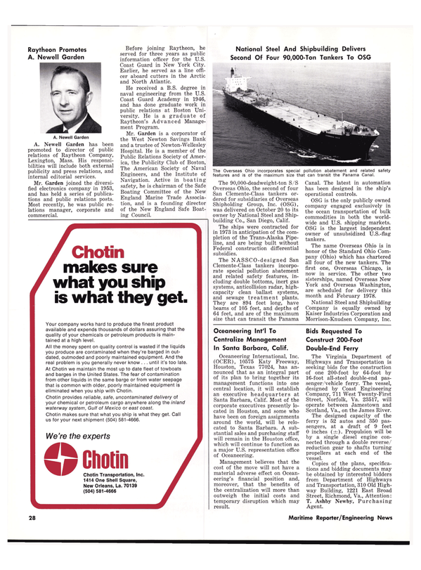 Maritime Reporter Magazine, page 26,  Nov 15, 1977 North Atlantic