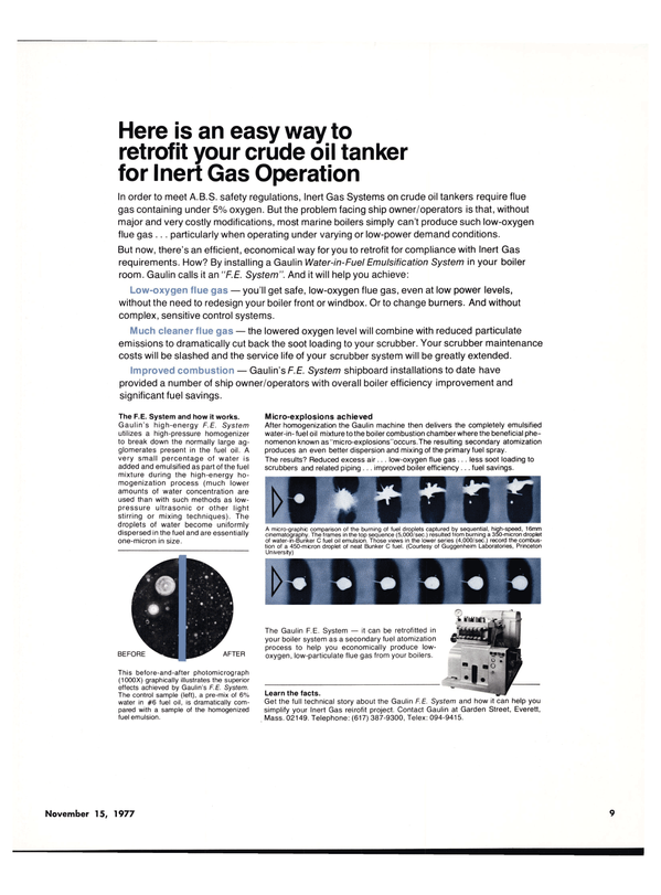 Maritime Reporter Magazine, page 7,  Nov 15, 1977 control systems