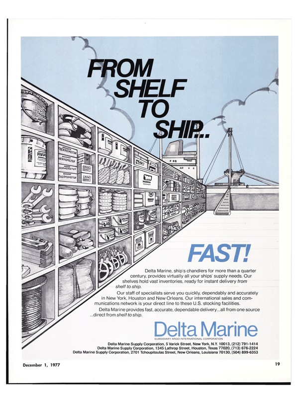 Maritime Reporter Magazine, page 17,  Dec 1977 United States