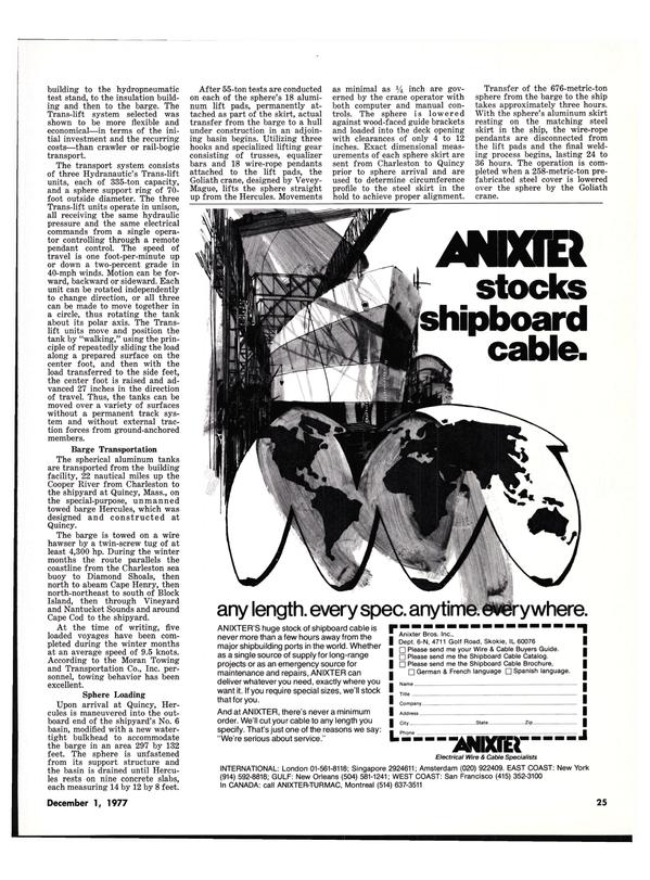 Maritime Reporter Magazine, page 23,  Dec 1977