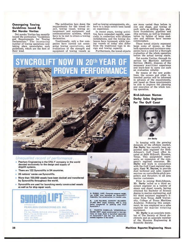 Maritime Reporter Magazine, page 26,  Dec 1977