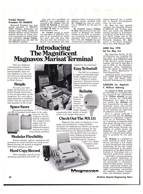Maritime Reporter Magazine, page 28,  Dec 1977