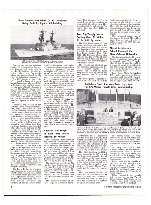 Maritime Reporter Magazine, page 6,  Dec 1977 Michigan