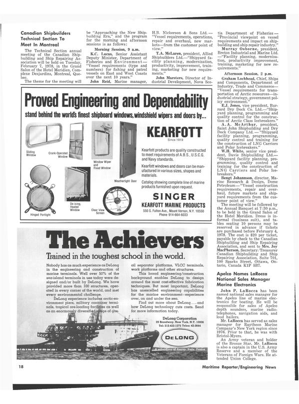 Maritime Reporter Magazine, page 16,  Jan 1978 Joy Macpherson