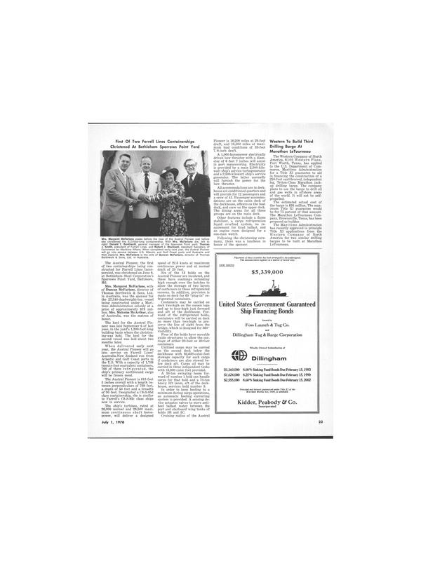 Maritime Reporter Magazine, page 19,  Jul 1978 Donald T. Burkhardt
