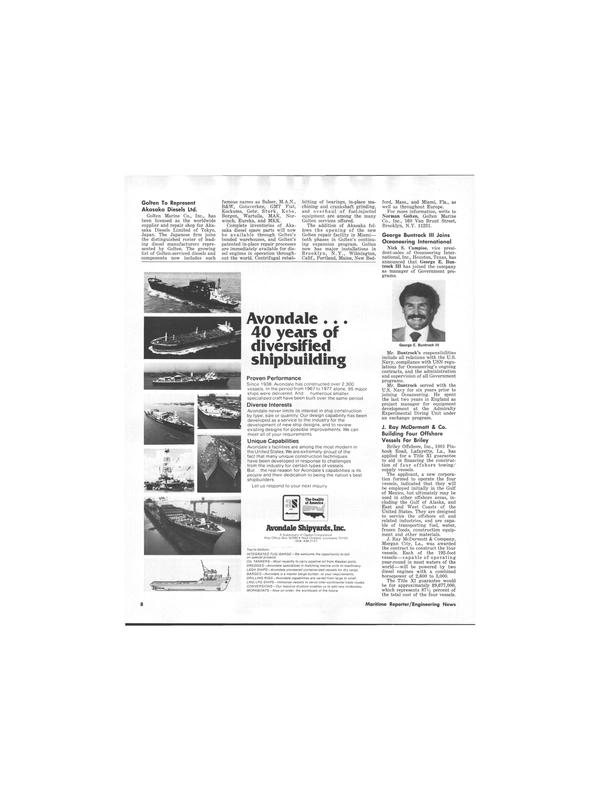 Maritime Reporter Magazine, page 6,  Jul 1978