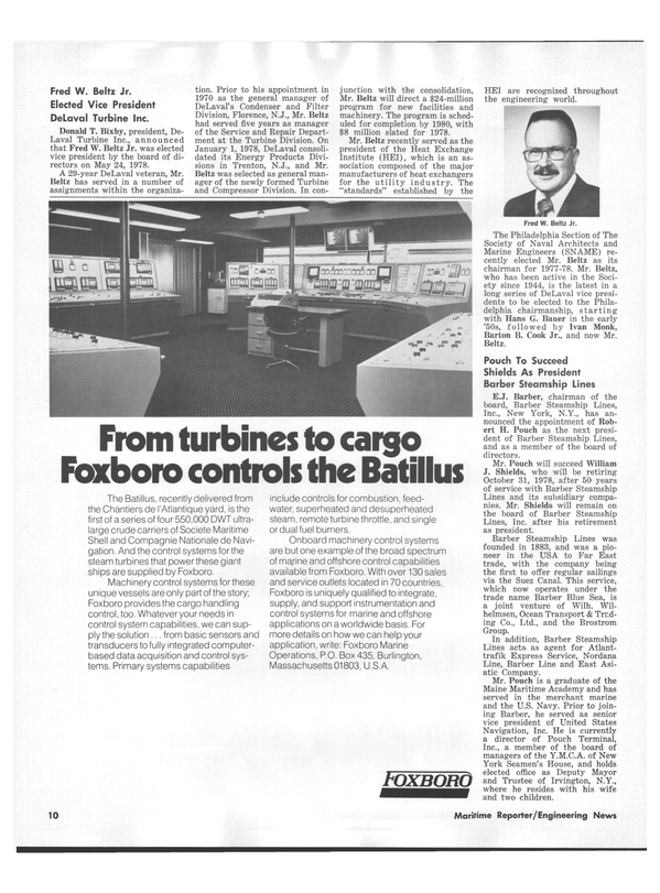 Maritime Reporter Magazine, page 8,  Jul 15, 1978