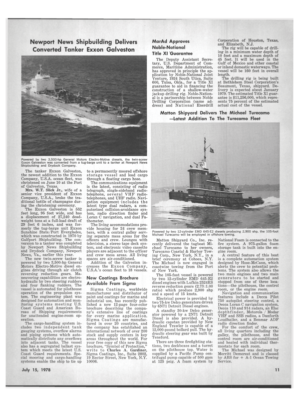 Maritime Reporter Magazine, page 9,  Jul 15, 1978 Virginia