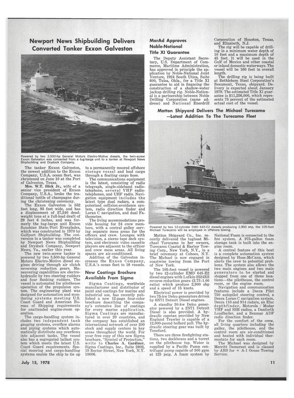 Maritime Reporter Magazine, page 9,  Jul 15, 1978 Virginia