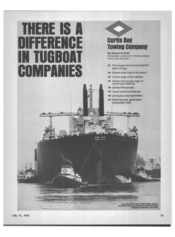 Maritime Reporter Magazine, page 11,  Jul 15, 1978