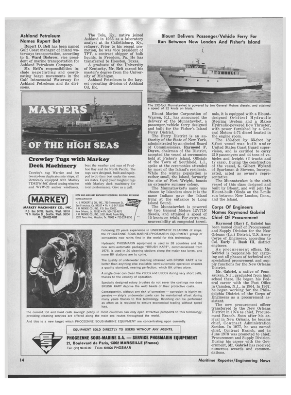 Maritime Reporter Magazine, page 12,  Jul 15, 1978
