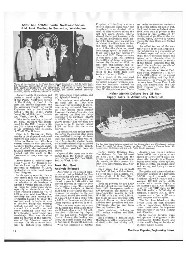 Maritime Reporter Magazine, page 14,  Jul 15, 1978