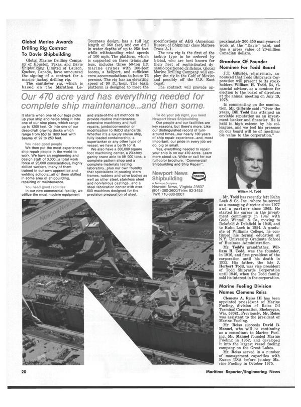 Maritime Reporter Magazine, page 18,  Jul 15, 1978