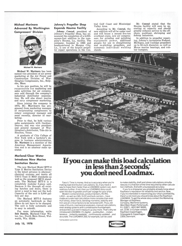 Maritime Reporter Magazine, page 23,  Jul 15, 1978