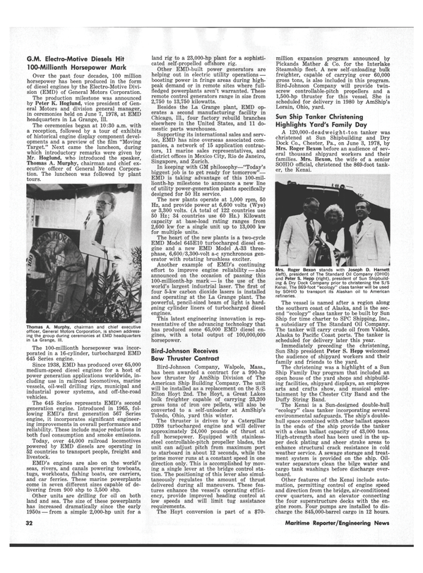 Maritime Reporter Magazine, page 30,  Jul 15, 1978