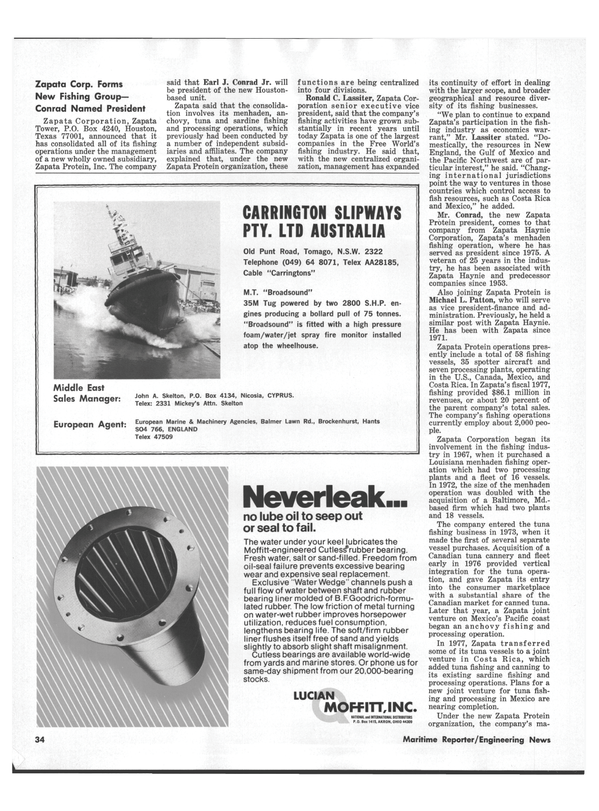 Maritime Reporter Magazine, page 32,  Jul 15, 1978 Louisiana