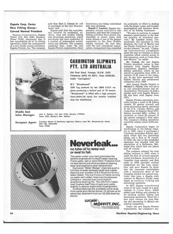 Maritime Reporter Magazine, page 32,  Jul 15, 1978 Louisiana