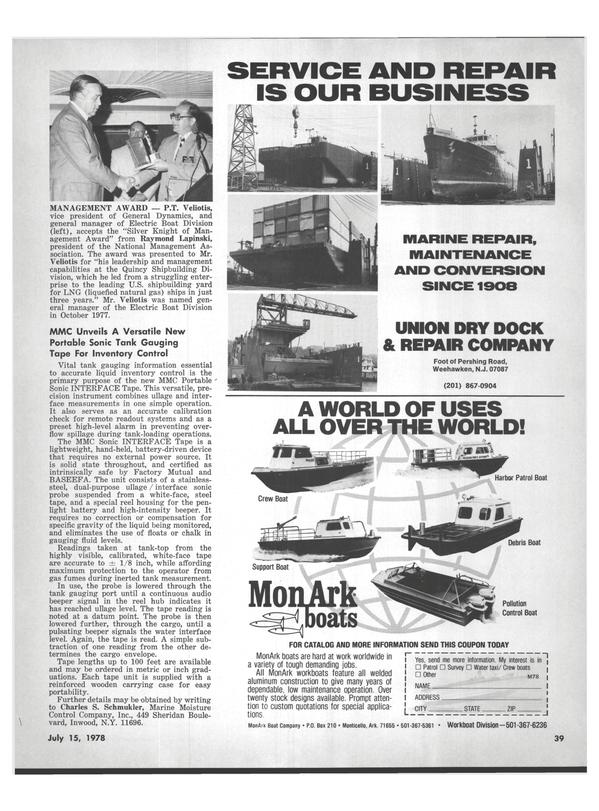 Maritime Reporter Magazine, page 37,  Jul 15, 1978 New Jersey