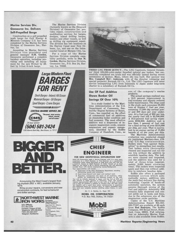Maritime Reporter Magazine, page 38,  Jul 15, 1978
