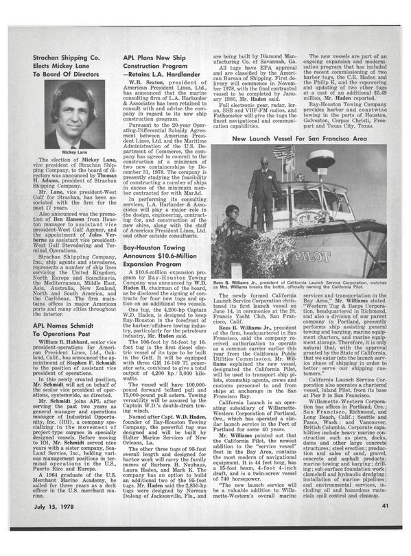 Maritime Reporter Magazine, page 39,  Jul 15, 1978