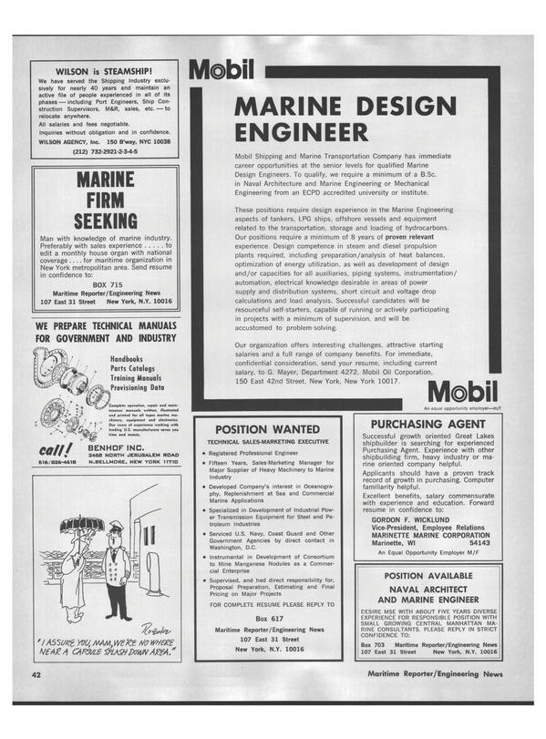 Maritime Reporter Magazine, page 40,  Jul 15, 1978