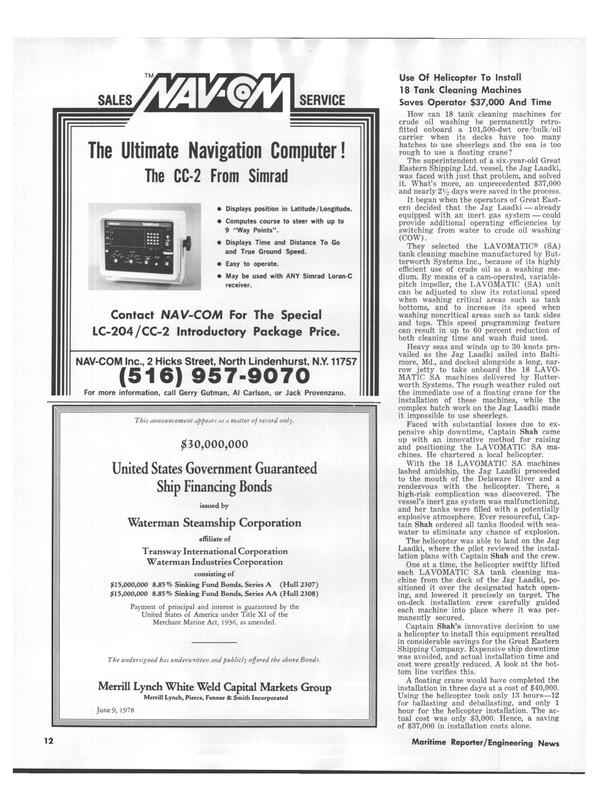 Maritime Reporter Magazine, page 10,  Aug 1978