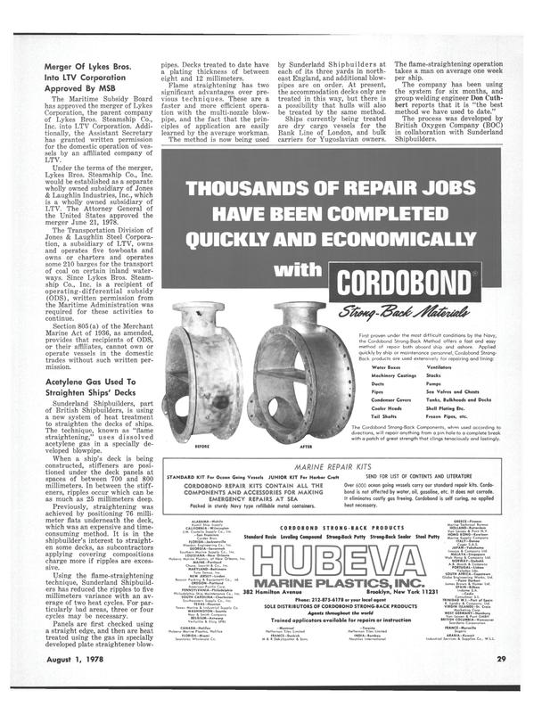 Maritime Reporter Magazine, page 27,  Aug 1978 Georgia