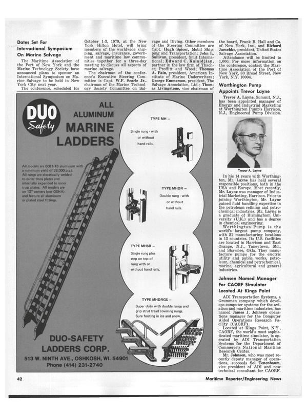 Maritime Reporter Magazine, page 40,  Aug 1978 Maryland