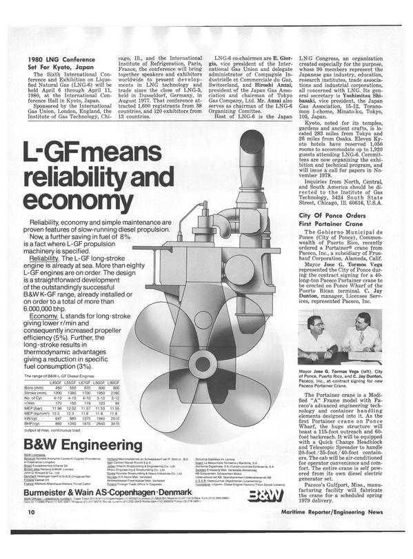 Maritime Reporter Magazine, page 8,  Aug 15, 1978