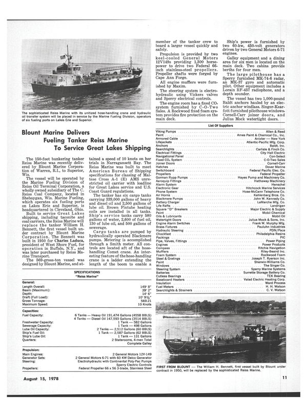 Maritime Reporter Magazine, page 9,  Aug 15, 1978