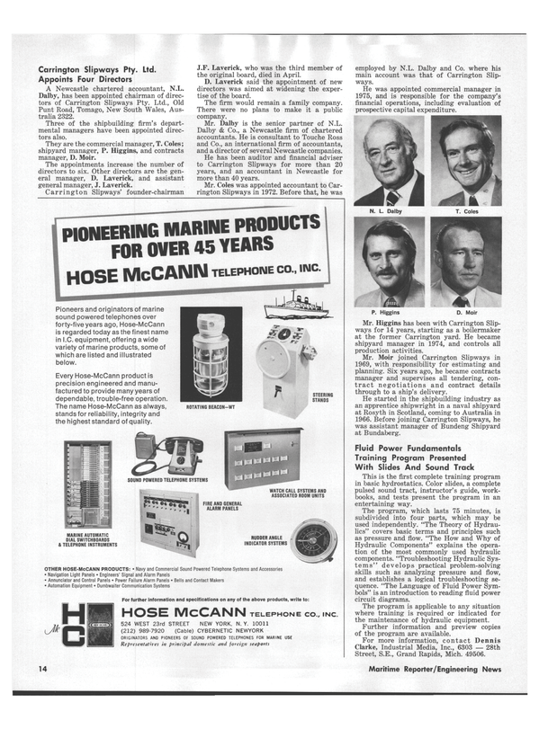 Maritime Reporter Magazine, page 12,  Aug 15, 1978