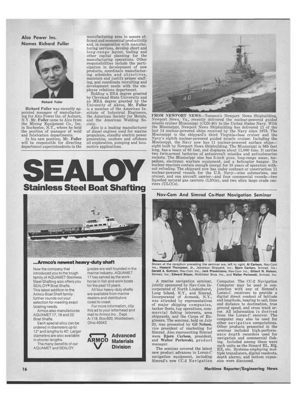 Maritime Reporter Magazine, page 14,  Aug 15, 1978