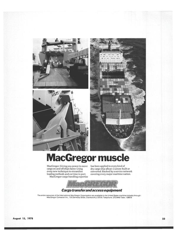 Maritime Reporter Magazine, page 19,  Aug 15, 1978