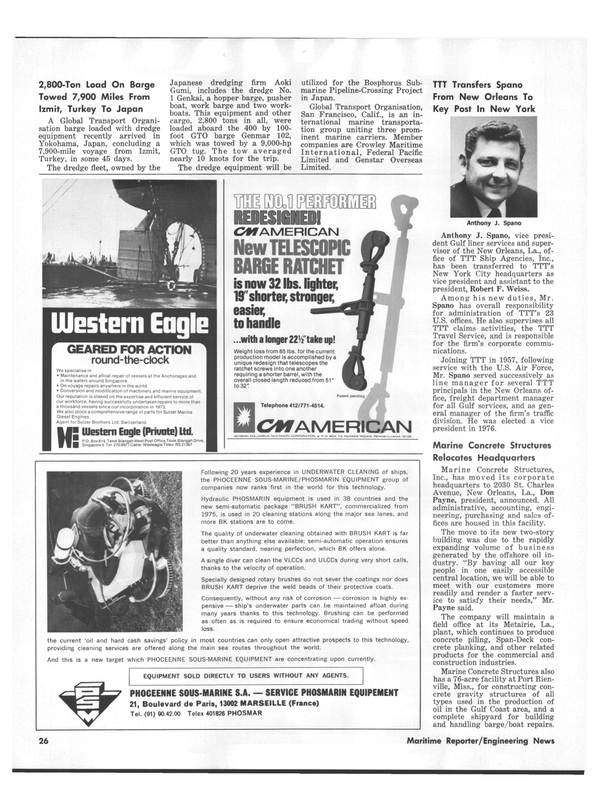 Maritime Reporter Magazine, page 22,  Aug 15, 1978