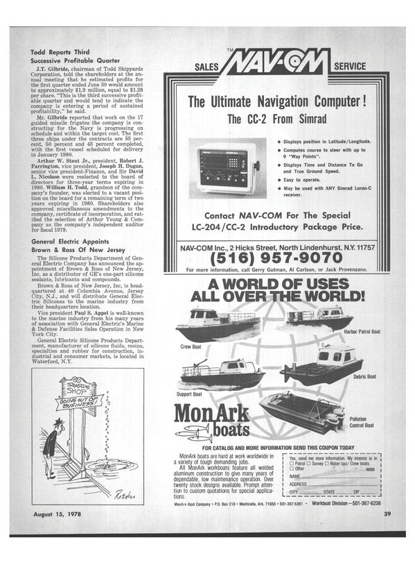 Maritime Reporter Magazine, page 35,  Aug 15, 1978