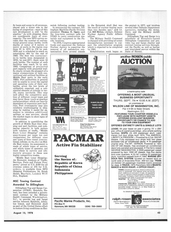 Maritime Reporter Magazine, page 39,  Aug 15, 1978