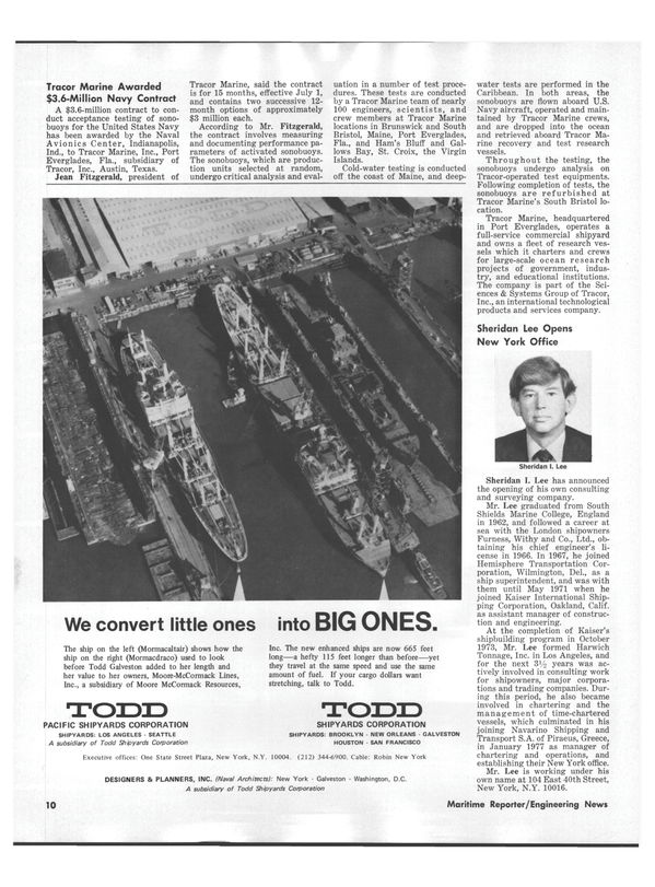 Maritime Reporter Magazine, page 8,  Sep 1978 Delaware