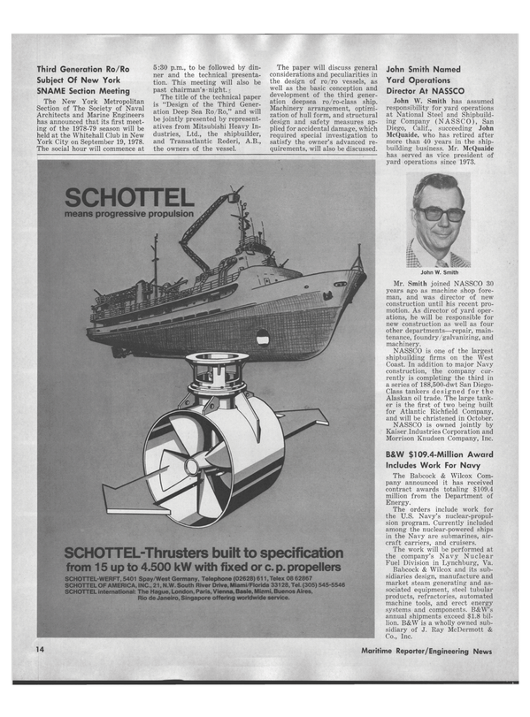 Maritime Reporter Magazine, page 12,  Sep 1978 Virginia