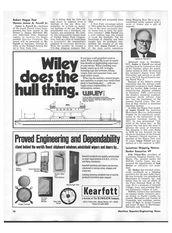Maritime Reporter Magazine, page 16,  Sep 1978 Delaware