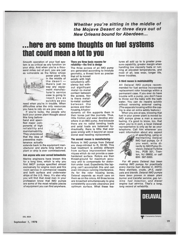 Maritime Reporter Magazine, page 17,  Sep 1978 fuel systems