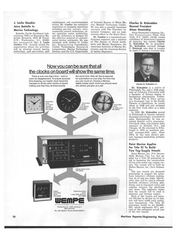Maritime Reporter Magazine, page 24,  Sep 1978 Louisiana