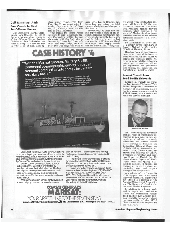 Maritime Reporter Magazine, page 36,  Sep 1978