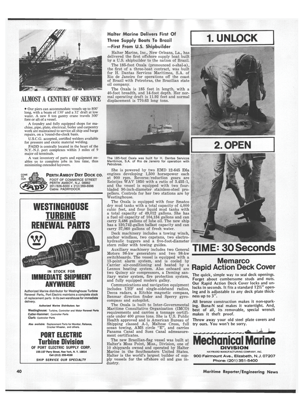 Maritime Reporter Magazine, page 38,  Sep 1978
