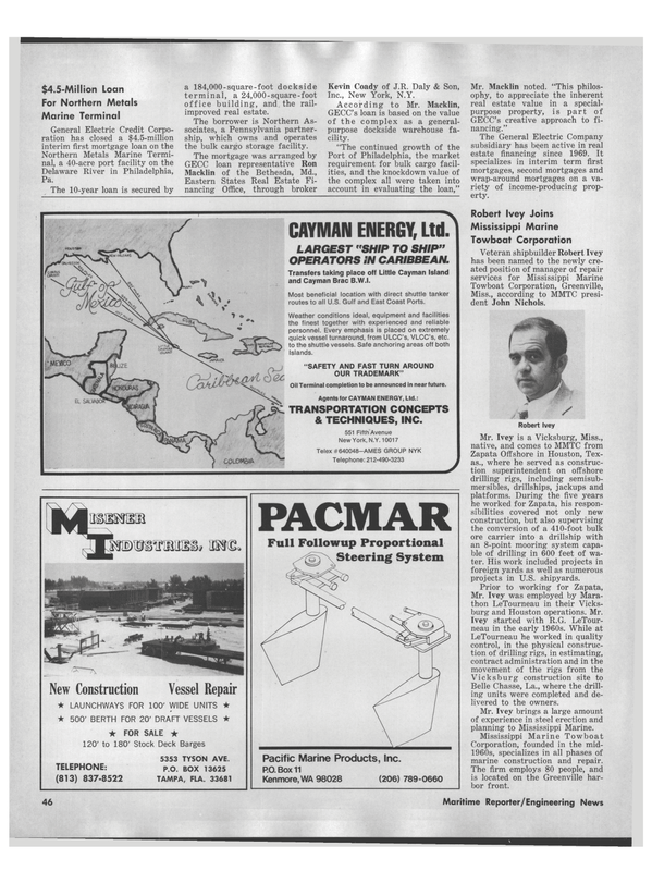 Maritime Reporter Magazine, page 44,  Sep 1978 Florida