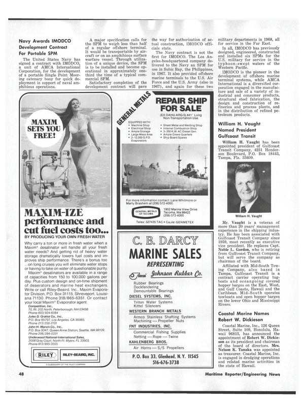 Maritime Reporter Magazine, page 46,  Sep 1978 California