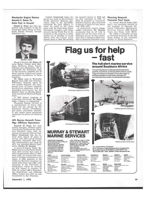 Maritime Reporter Magazine, page 47,  Sep 1978