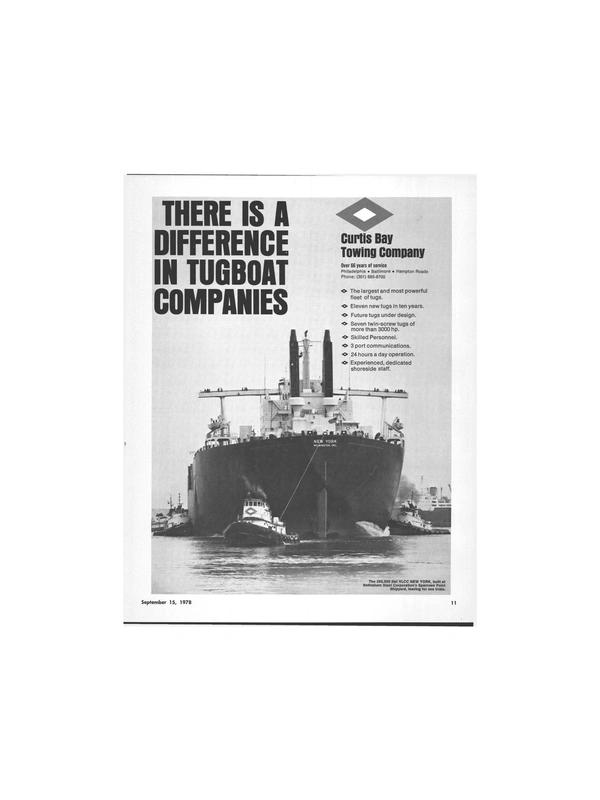 Maritime Reporter Magazine, page 9,  Sep 15, 1978 Bethlehem Steel Corporation
