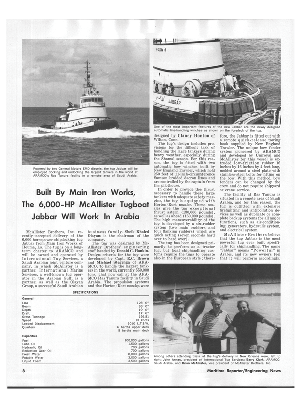Maritime Reporter Magazine, page 6,  Oct 1978