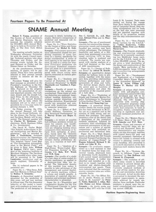 Maritime Reporter Magazine, page 12,  Nov 1978 Dunne Johnson